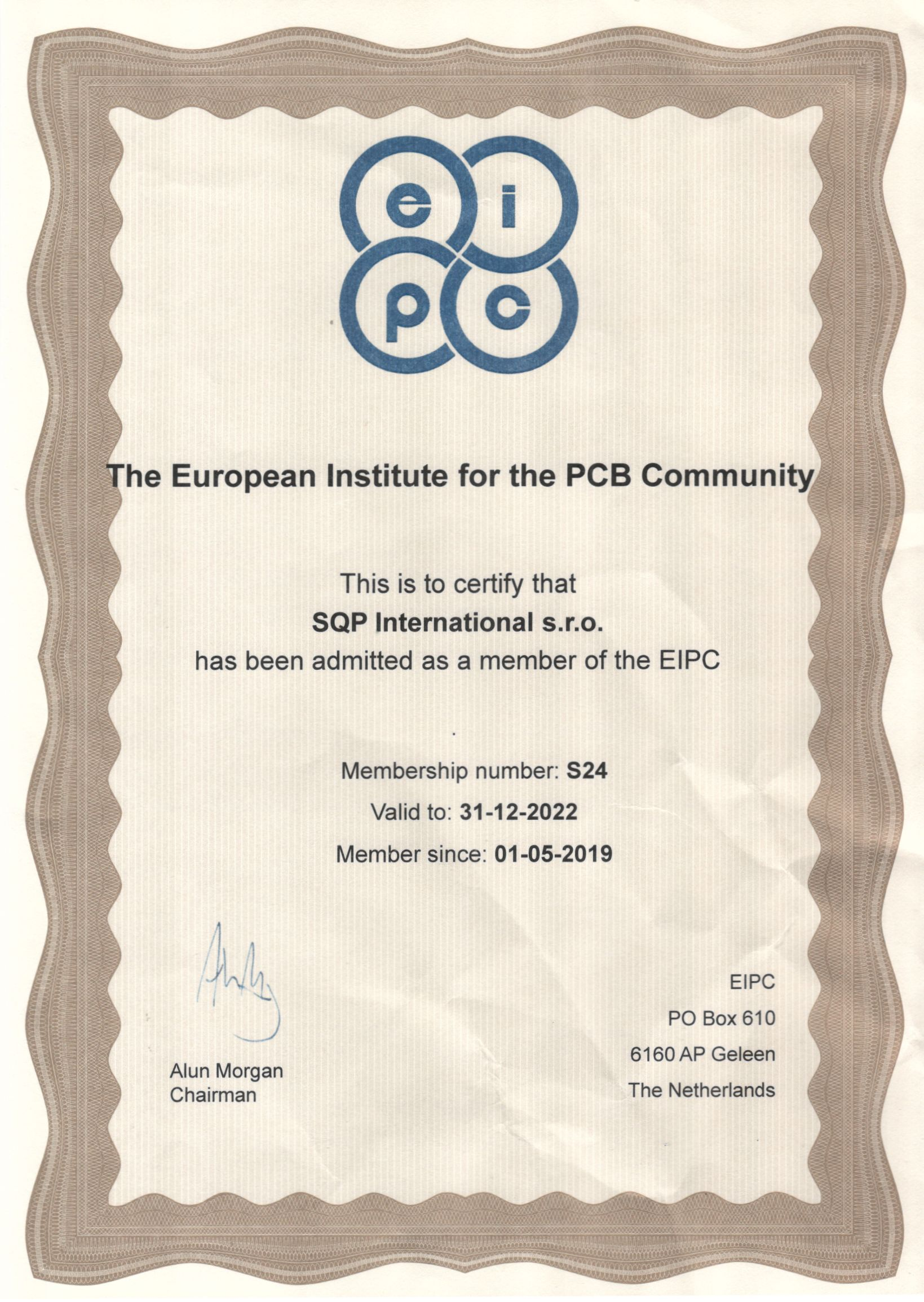 SQP International s.r.o. is a member of the EIPC